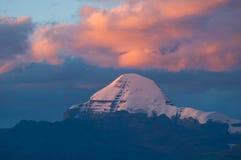 Il Monte Kailash: Viaggiando nel Tibet Fotografie Stock Libere da Diritti