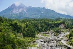 Il monte Merapi immagine stock libera da diritti