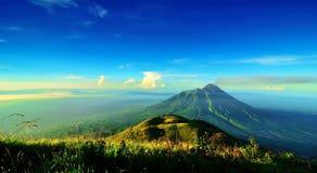 Il monte Merapi a Java Island, Indonesia immagini stock
