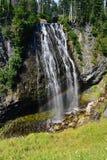 Il monte Rainier, cascata di Narada Fotografie Stock