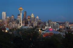 Il monte Rainier, penombra di Seattle Fotografie Stock