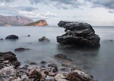 Il Montenegro, Budua, l'isola di San Nicola Fotografia Stock Libera da Diritti