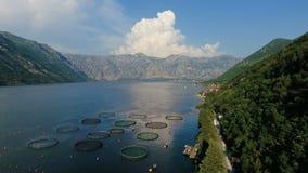 Il Montenegro, fucilazione dell'aria della baia stock footage