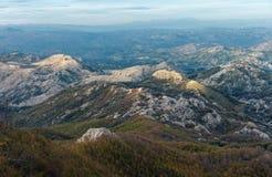 Il Montenegro, parco nazionale Lovcen Fotografia Stock Libera da Diritti