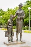 Il monumento al primo insegnante Volgograd immagine stock