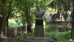 Il monumento all'eroe Vasily Chapayev della guerra civile archivi video