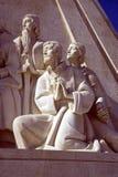 Il monumento alla scultura di architettura del monumento di Lisbona Portogallo di scoperte Fotografie Stock