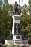 Il monumento a Brigham Young ed ai pionieri a Salt Lake City, Utah Immagini Stock