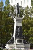 Il monumento a Brigham Young ed ai pionieri a Salt Lake City, Utah Fotografia Stock Libera da Diritti