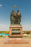 Il monumento a Cyril e a Methodius fotografie stock
