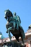 Il monumento dedicato a principe Mihailo Obrenovic fotografia stock libera da diritti