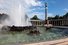 Il monumento degli eroi dell'esercito rosso a Vienna Fotografie Stock Libere da Diritti