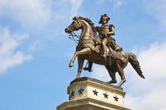 Il monumento del Equestrian del George Washington Fotografie Stock