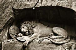 Il monumento del leone fotografia stock libera da diritti