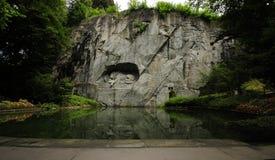 Monumento del leone di Loewendenkmal Lucerna immagini stock