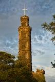 Il monumento del Nelson a Edimburgo Fotografie Stock Libere da Diritti