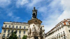Il monumento del poeta Luis de Camoes stock footage