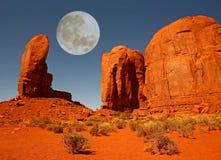 Il monumento del pollice in valle Arizona del monumento Immagini Stock Libere da Diritti