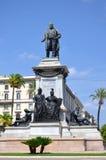 Il monumento del primo primo ministro di Camillo Cavour dell'Italia sulla piazza Cavour a Roma, Italia Fotografie Stock