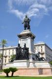 Il monumento del primo primo ministro di Camillo Cavour dell'Italia sulla piazza Cavour a Roma, Italia Fotografie Stock Libere da Diritti