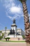 Il monumento del primo primo ministro di Camillo Cavour dell'Italia sulla piazza Cavour a Roma, Italia Fotografia Stock