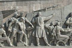 Il monumento del Rocket, bas-relief immagini stock