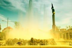 Il monumento dell'Armata Rossa, Vienna degli eroi Fotografia Stock