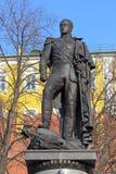 Il monumento dell'imperatore di Alessandro I del primo piano Mosca della Russia Fotografie Stock Libere da Diritti