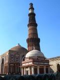 Il monumento della torre di Qutb Minar a Nuova Delhi, India Immagine Stock Libera da Diritti