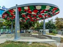 Il monumento di amicizia, Tirana, Albania fotografia stock