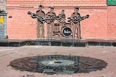 Il monumento di Beatles a Ekaterinburg, Russia immagini stock libere da diritti