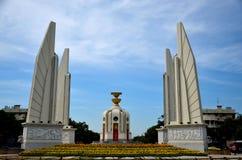 Il monumento di democrazia che commemora una rivoluzione siamese di Bangkok 1932 Tailandia Fotografia Stock