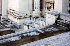 Il monumento di Emmanuel del vincitore in dettaglio di Roma fotografia stock libera da diritti