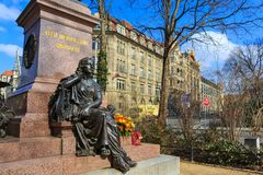 Il monumento di Felix Mendelssohn Bartholdy Fotografie Stock