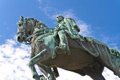 Il monumento di Knez Mihailo a Belgrado fotografia stock libera da diritti