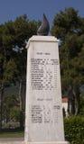 Il monumento di pietra in Litohoro, Grecia Fotografie Stock Libere da Diritti