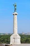 Il monumento di Pobednik (il vincitore) a Belgrado, Serbia fotografia stock