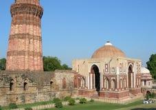 Il monumento di Qutb Minar a Nuova Delhi, India Fotografia Stock Libera da Diritti