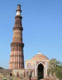 Il monumento di Qutb Minar a Nuova Delhi, India Fotografia Stock
