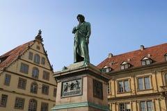 Il monumento di Schiller nel quadrato di Schiller, 1839, Stuttgart, Germania Fotografie Stock