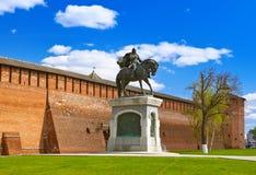 Il monumento a Dmitry Donskoy in Cremlino di Kolomna nel registro di Mosca immagine stock libera da diritti