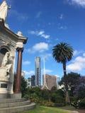 Il monumento e le arti della regina Victoria concentrano, Melbourne immagine stock libera da diritti