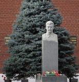 Il monumento IV Stalin alla parete di Cremlino mosca Fotografia Stock Libera da Diritti