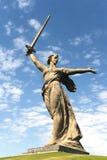 Il monumento le chiamate della patria a Volgograd fotografia stock