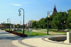 Il monumento a Lenin nell'Astrakan Fotografie Stock Libere da Diritti