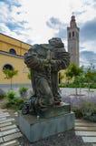 Il monumento martirizza davanti alla cattedrale del ` s di St Stephen, Shkoder, Albania Immagine Stock Libera da Diritti