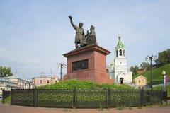 Il monumento Minin e Pozharsky dalla Russia riconoscente Nizhny Novgorod immagini stock libere da diritti