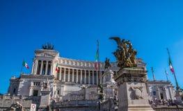 Il Monumento Nazionale un monumento nazionale del ` di Vittorio Emanuele II a Victo Immagini Stock Libere da Diritti