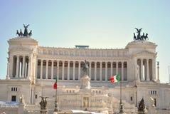 Il Monumento Nazionale un Vittorio Emanuele II Fotografie Stock Libere da Diritti