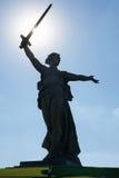 Il monumento principale - le chiamate della patria è situata sulla cima della t fotografia stock